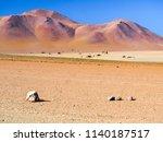 rocky desert of andean...   Shutterstock . vector #1140187517