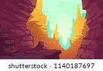 vector cartoon illustration of... | Shutterstock .eps vector #1140187697