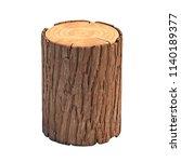 stump isolated on white... | Shutterstock . vector #1140189377