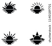sunset icon set | Shutterstock .eps vector #1140189701