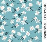 floral seamless pattern. vector ... | Shutterstock .eps vector #1140190001