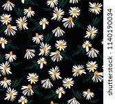 floral seamless pattern. vector ...   Shutterstock .eps vector #1140190034