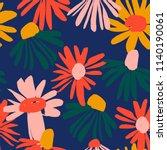 floral seamless pattern. vector ...   Shutterstock .eps vector #1140190061