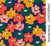 floral seamless pattern. vector ... | Shutterstock .eps vector #1140190064