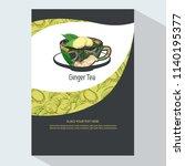 tea branding with ginger root... | Shutterstock .eps vector #1140195377