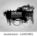 grunge banner with an inky... | Shutterstock .eps vector #114019801