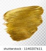 vector gold paint brush stroke  ...   Shutterstock .eps vector #1140207611