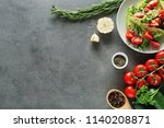composition with tasty... | Shutterstock . vector #1140208871