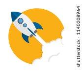 rocket. rocket launch  business ... | Shutterstock .eps vector #1140208964