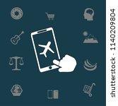 buy a plane ticket through the... | Shutterstock .eps vector #1140209804