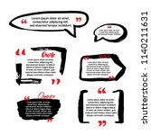 quote blanks with text bubble... | Shutterstock .eps vector #1140211631