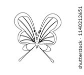 butterfly coloring pages on the ... | Shutterstock .eps vector #1140212651