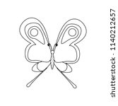 butterfly coloring pages on the ... | Shutterstock .eps vector #1140212657