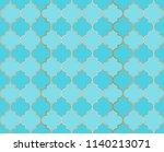 arabic mosque vector seamless... | Shutterstock .eps vector #1140213071