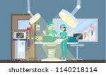 surgery room in the hospital.... | Shutterstock .eps vector #1140218114