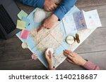 couple are planning camino de... | Shutterstock . vector #1140218687
