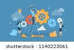 teamwork concept. businessmen...   Shutterstock .eps vector #1140223061