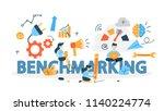 benchmarking concept. idea of... | Shutterstock .eps vector #1140224774