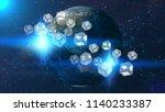 global network concept. image... | Shutterstock . vector #1140233387