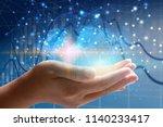 global network concept.  | Shutterstock . vector #1140233417