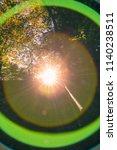 spheric lens flare chromatic... | Shutterstock . vector #1140238511