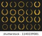set of laurel wreaths. heraldic ... | Shutterstock .eps vector #1140239081