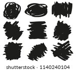 hand drawn simple grunge smears....   Shutterstock .eps vector #1140240104