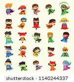 cartoon vector illustrations of ... | Shutterstock .eps vector #1140244337