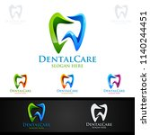 dental logo tooth abstract... | Shutterstock .eps vector #1140244451