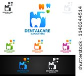 dental logo tooth abstract... | Shutterstock .eps vector #1140244514