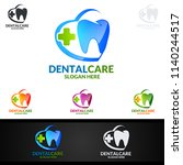dental logo tooth abstract... | Shutterstock .eps vector #1140244517