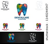 dental logo tooth abstract... | Shutterstock .eps vector #1140244547