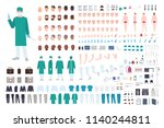doctor  surgeon or paramedic... | Shutterstock .eps vector #1140244811