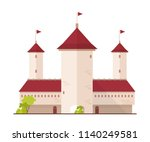 fairytale castle  fortress or... | Shutterstock .eps vector #1140249581