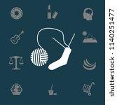 sock knitting needles vector... | Shutterstock .eps vector #1140251477