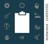 clipboard vector icon | Shutterstock .eps vector #1140251531