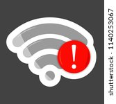 no wifi vector icon on... | Shutterstock .eps vector #1140253067