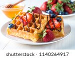 fresh homemade food of berry... | Shutterstock . vector #1140264917