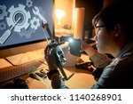 asian technical engineer using... | Shutterstock . vector #1140268901