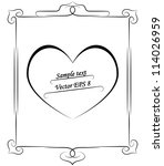 simple frame with a heart vector | Shutterstock .eps vector #114026959