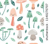 seamless pattern with cute... | Shutterstock .eps vector #1140270707