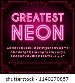 bright neon alphabet letters ... | Shutterstock .eps vector #1140270857