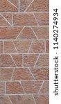 wall facade bricks new exterior ... | Shutterstock . vector #1140274934