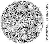 cartoon vector doodles latin... | Shutterstock .eps vector #1140277397