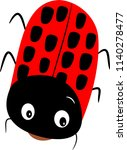 red bug vector isolated | Shutterstock .eps vector #1140278477