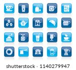 coffee and tea related icons  ... | Shutterstock .eps vector #1140279947