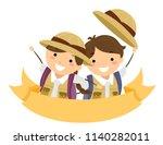 illustration of a blank ribbon...   Shutterstock .eps vector #1140282011