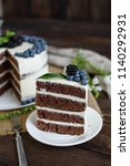 beautiful tasty cake with white ... | Shutterstock . vector #1140292931