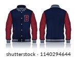 varsity jacket design...   Shutterstock .eps vector #1140294644