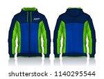 hoodie shirts template.jacket...   Shutterstock .eps vector #1140295544